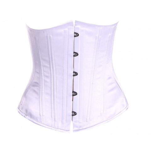 White Bridal Satin Corset