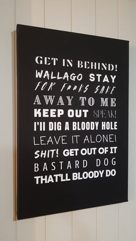 Sheepdog Commands (Bad Dog Curse Version) - Canvas