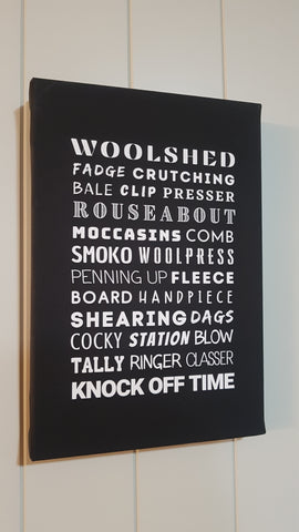 Shearing Slang - Canvas