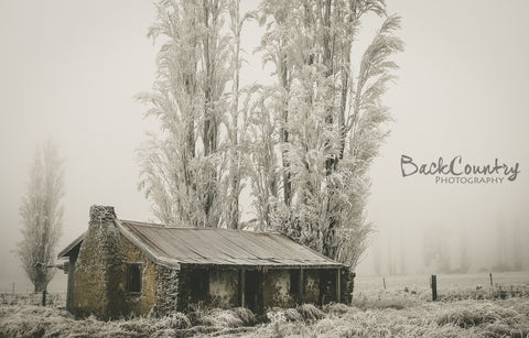 Frosty Hut - Canvas