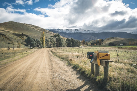 Autumn Mountains and Mail - Canvas