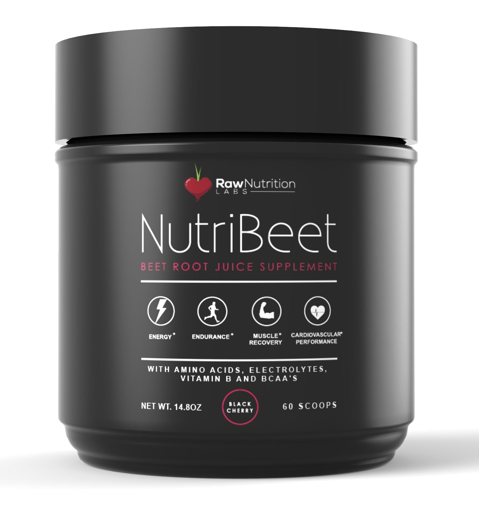 NUTRIBEET - NITRIC OXIDE OPTIMIZER - ORGANIC BEET ROOT JUICE POWDER W/ AMINO NITRATE MATRIX, ELECTROLYTES, VITAMIN B ENERGY BOOST & BCAA RECOVERY SUPPORT - EXTENDED PERFORMANCE FORMULA