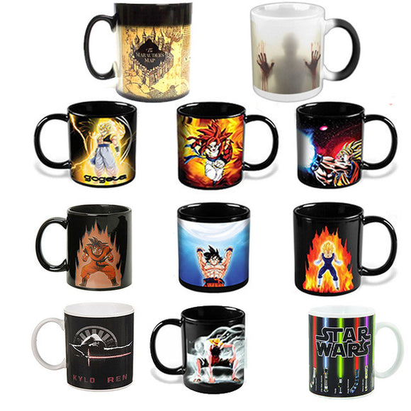 Dragon Ball Super Sayian Mugs - Heat Changing