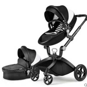 Hot Mom pushchair stroller , Eco-leather 2 in 1 lightweight