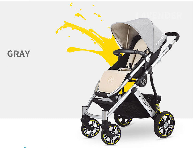 Babyruler folding 4 wheel portable baby stroller
