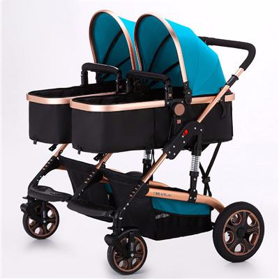 Yibaolai twin baby stroller folding light double baby stroller
