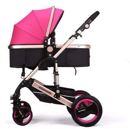 Beautiful luxury Baby Stroller, folding baby Carriage Sitting or lying