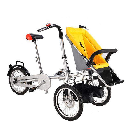 Adjustable 3 Wheels Bicycle Single And Double Convert To A Stroller