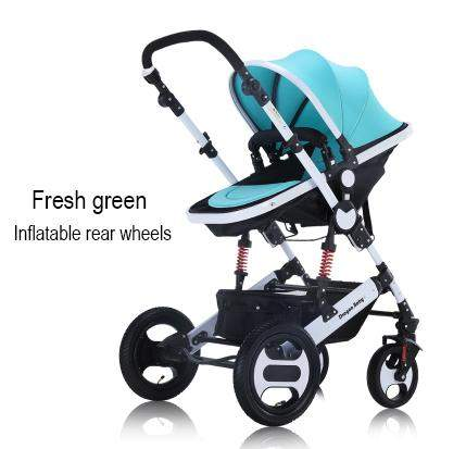 High landscape can sit or lie, great for winter, baby two-way pushchair to bassinet convertible