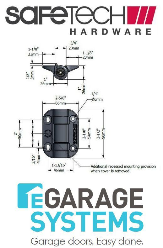 Safetech Magnetic Top Pull Latch & Adjustable Tension Hinge Black - SL-50TRI-G90