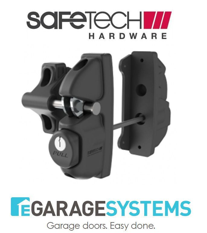 Safetech Gravity Double Sided Gate Latch & Neutral Tension Hinges - SLV-X2-N90L