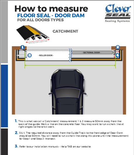 Garage Door Dam Floor Threshold Seal in Black 5300MM length Garage Door Seal