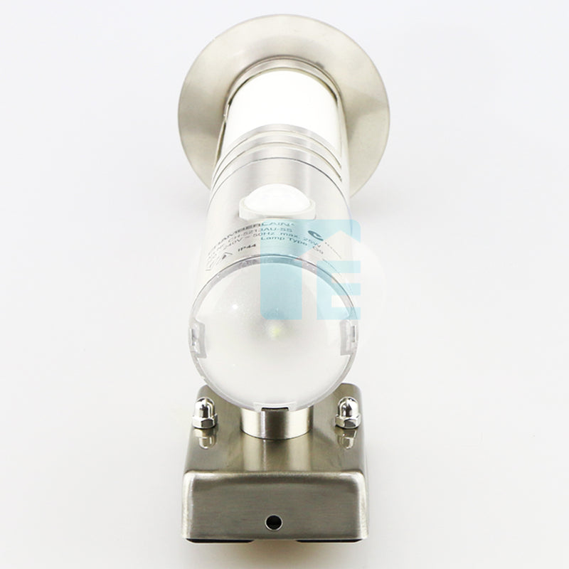 Chamberlian Stainless Steel Sensor Light With LED Accent Lighting & Integrated 140° Sensor