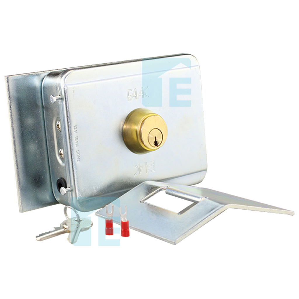 FAAC 12V Electronic Gate Lock With Receiver Slot Plate