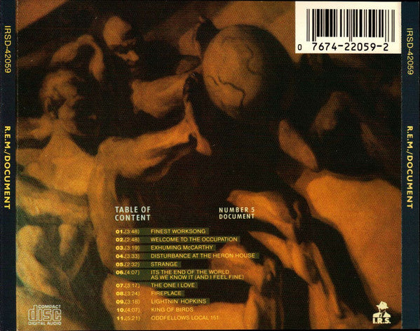 R.E.M. : Document (CD, Album, RP)