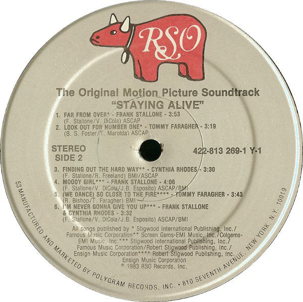 Various : Staying Alive (The Original Motion Picture Soundtrack) (LP, Album, 53)