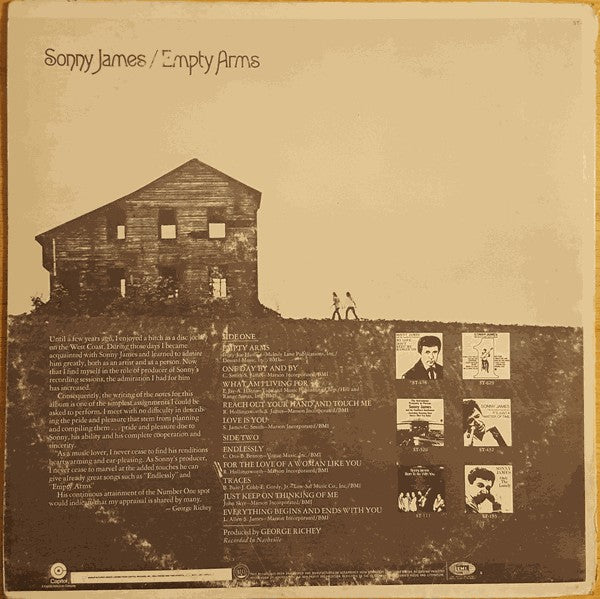 Sonny James : Empty Arms (LP, Album, Club, RE)