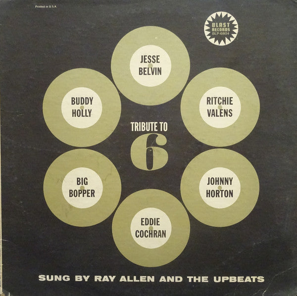 Ray Allen And The Upbeats : Tribute To 6 (LP)