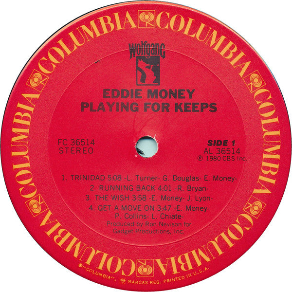 Eddie Money : Playing For Keeps (LP, Album, Ter)