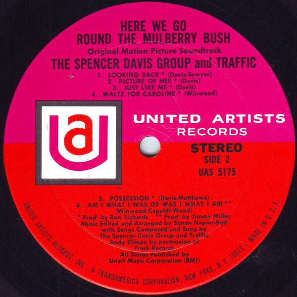 The Spencer Davis Group / Traffic : Here We Go 'Round The Mulberry Bush (Original Motion Picture Soundtrack) (LP, Album, Res)