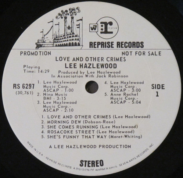 Lee Hazlewood : Love And Other Crimes (LP, Album, Promo)