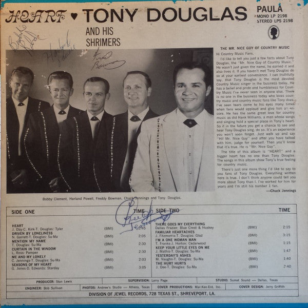 Tony Douglas (3) : Heart (LP, Album)