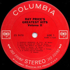 Ray Price : Ray Price's Greatest Hits Vol. II (LP, Comp)
