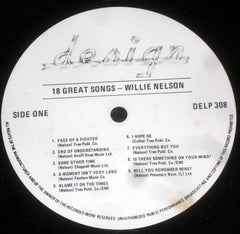 Willie Nelson : 18 Great Songs (LP, Comp)