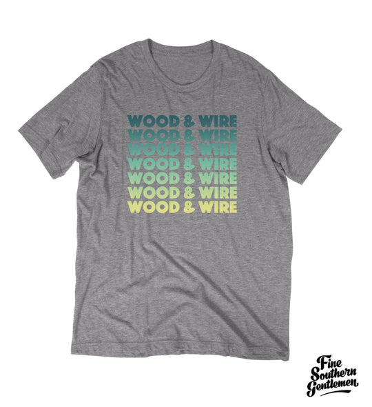 Wood & Wire - Band Name Tee - Grey