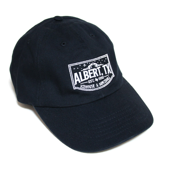 Albert Icehouse Dad Cap, Navy w/ White Thread