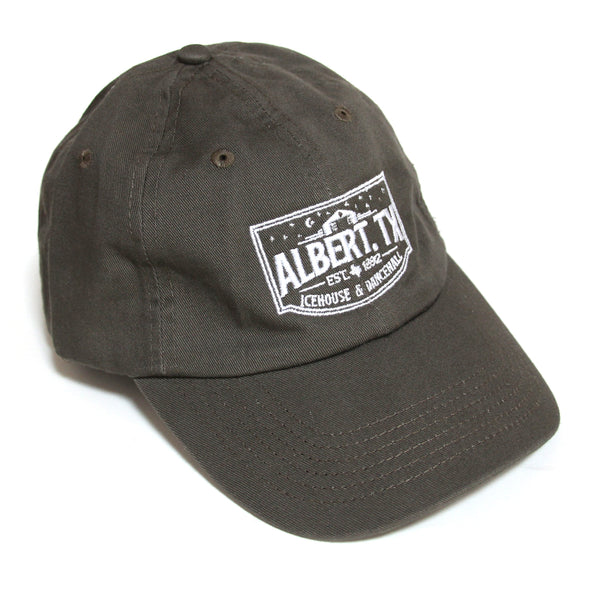 Albert Icehouse Dad Cap, Brown w/ White Thread