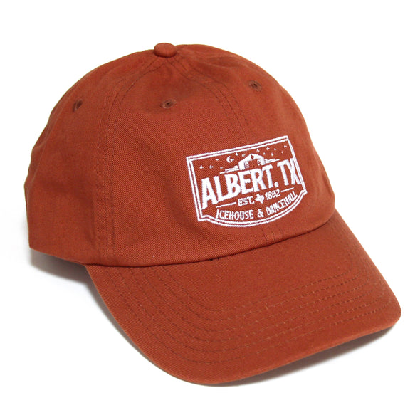 Albert Icehouse Dad Cap, Burnt Orange w/ White Thread