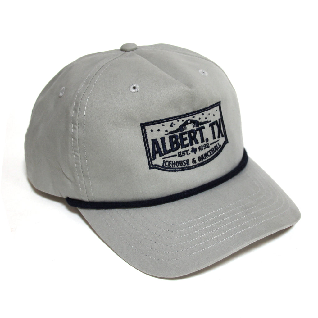 Albert Icehouse Rope Hat, Grey
