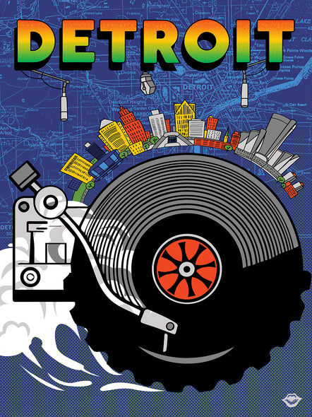 Bring Music Home - Detroit Poster