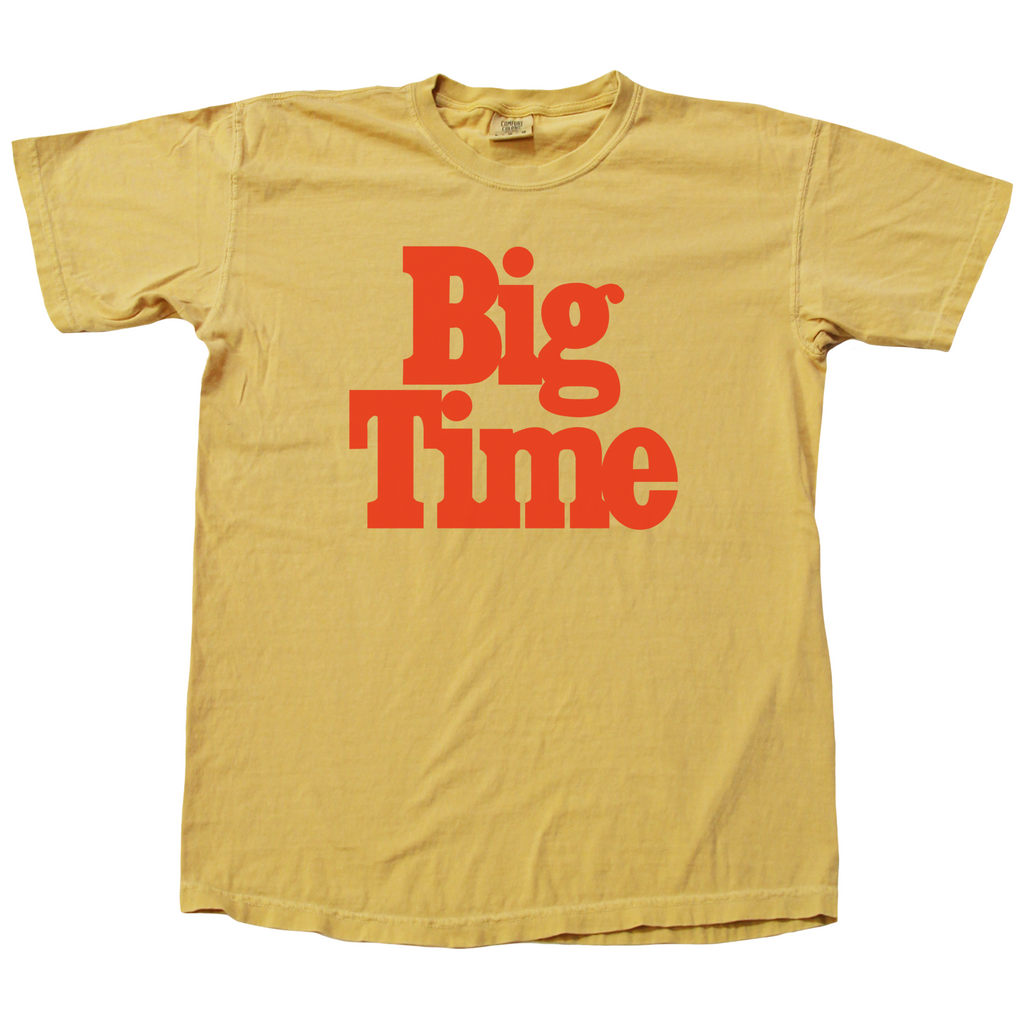 Big Time Logo Tee - Mustard