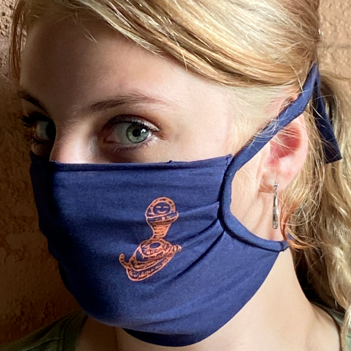 Happy Cobra Face Mask - Blue