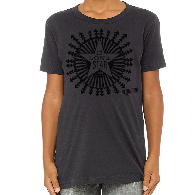 Love from the Lonestar Tee - Youth Dark Grey