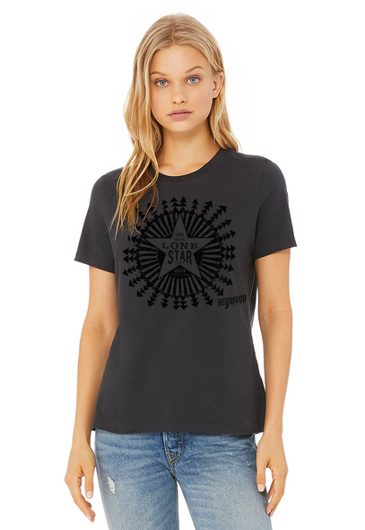 Love from the Lonestar Tee - Ladies Relaxed Dark Grey