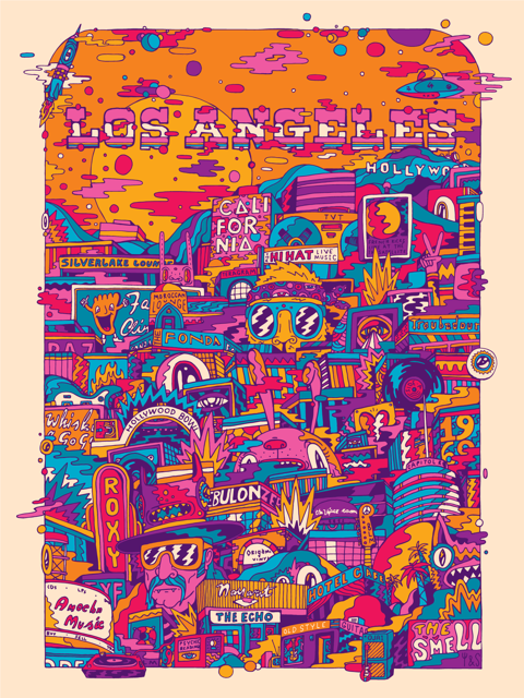 Bring Music Home - Los Angeles Poster