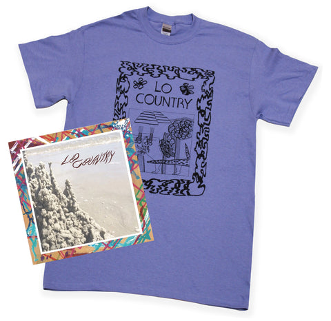 Lo Country Shirt & Record Bundle - Periwinkle