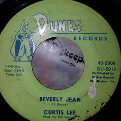 "Curtis Lee - Under The Moon Of Love / Beverly Jean (7"", Single) (G+)"