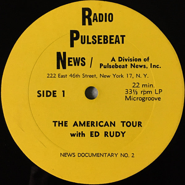 Ed Rudy - The American Tour With Ed Rudy (LP, Transcription) (VG+)