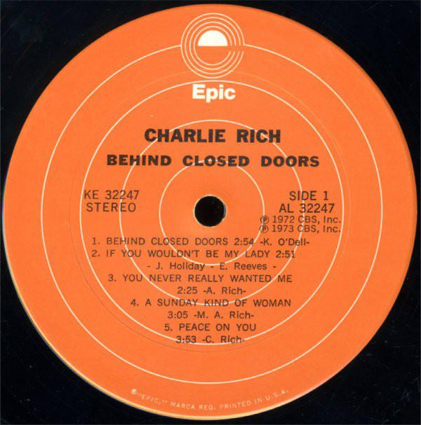Charlie Rich - Behind Closed Doors (LP, Album) (G+)