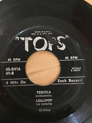 "Carl Sherwood, The Toppettes - Who's Sorry Now / Breathless / Tequila / Lollipop (7"", EP) (G+)"