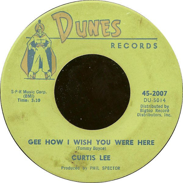 "Curtis Lee - Pretty Little Angel Eyes / Gee How I Wish You Were Here (7"", Single, MGM) (G+)"
