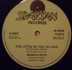 "Mama's Boys - Too Little Of You To Love (12"", Single + LP, Ltd) (VG+)"