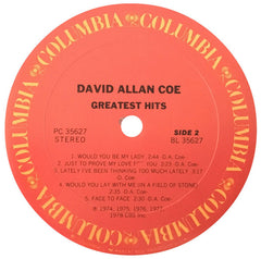 David Allan Coe - Greatest Hits (LP, Comp) (VG+)