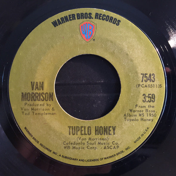 "Van Morrison - Tupelo Honey (7"", Single) (G+)"
