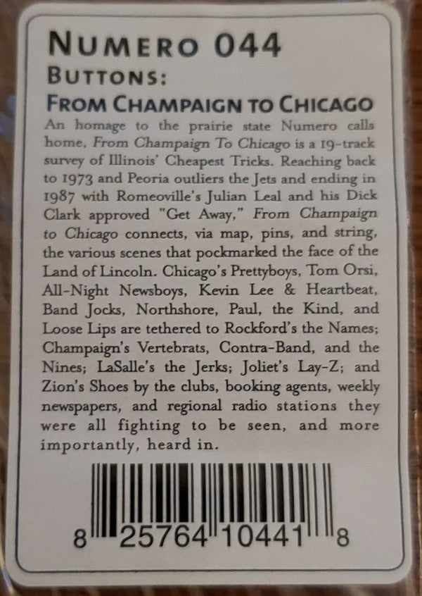 Various - Buttons: From Champaign To Chicago (2xLP, Comp) (M)