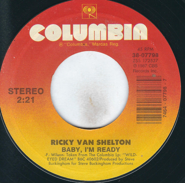 "Ricky Van Shelton - Don't We All Have The Right (7"", Single, Styrene, Car) (VG)"